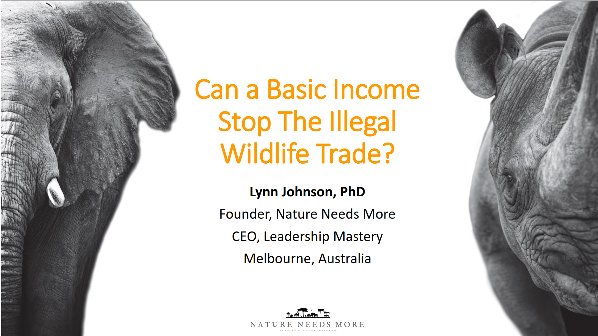 Can A Basic Income Stop The Illegal Wildlife Trade?